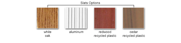 Slat Color Options