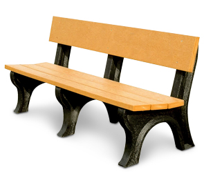 Model LB6WB-P | Recycled Plastic Memorial Benches