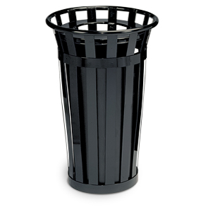 Model M2401-FT | Oakley Collection 24 Gallon Trash Receptacle (Black)