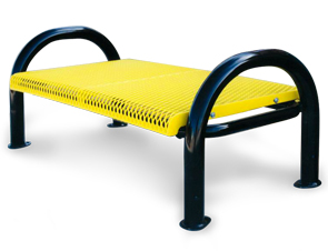 Model M4NB P | Modern Style Backless Benches With Add On Sections (Yellow