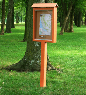 Model MC1P | Outdoor Notice Board | Message Center (Cedar)