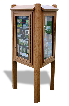 Model MCP-3K | Three Sided Recycled Plastic Kiosk