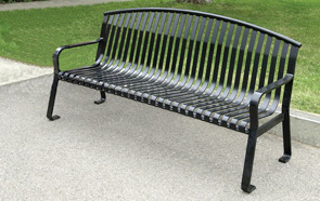 Model MF2201 | Metal-Armor Coated Steel Bench (Black)