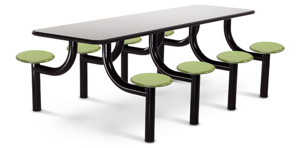 Model MX3096 8LPTBT | 8u0027 Rectangular Lunchroom Table (Laminate Titanium  Evolve/Sawgrass