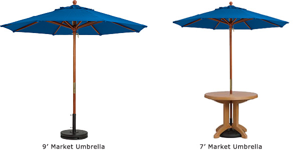 Commerical Market Umbrellas With Wood Pole Umbrellas Belson - Commercial table umbrellas