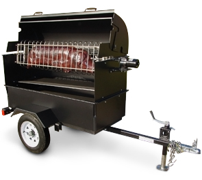 Model Mobile-I-R | Charcoal Fired Mobile Mounted Pig Roaster Trailer Unit