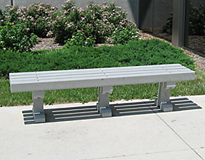 Model P-160X | 6' Length | Surface Mount | Gray Bench | Gray Legs