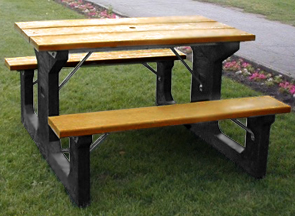 Model P-24 | 4' Picnic Table Bench