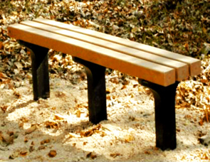 Model P-261 | Recycled Plastic Park Bench | Trail Bench (Cedar)
