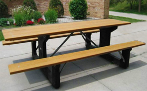 Model P-28 | Recycled Plastic Wheelchair Accessible Picnic Table