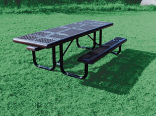 Portable Perforated Metal Style Outdoor Table Belson Outdoors - Picnic table mover