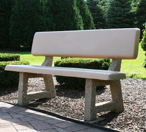 Model PB-58 | 5 ft Concrete Park Bench