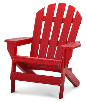 model pbadcap cape cod commercial grade recycled plastic adirondack chair red