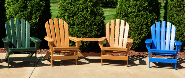 plastic adirondack chairs. Cape Cod Recycled Plastic Adirondack Chairs With Optional Tete-A-Tete