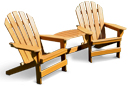 Cape Cod Commercial Grade Recycled Plastic Adirondack Chair with Tete-A-Tete