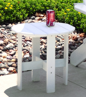 Model PB-ADTRAST | Commercial Grade Recycled Plastic Adirondack Side Table (White)