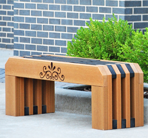 Model PB4-GAT | 4' Gateway Recycled Plastic Resinwood Outdoor Bench
