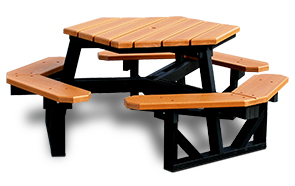 Hexagon Outdoor Table Recycled Plastic Belson Outdoors - Recycled plastic hexagonal picnic table