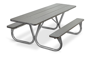 Model PC-HPWW | Park Chief  8ft. Recycled Plastic Picnic Tables (Gray)