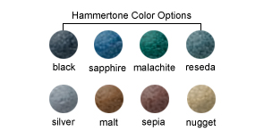 Hammertone Color Options