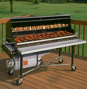 PG-2460-II PORTA-GRILL® II Liquid Propane Gas Fired Grill with Accessories