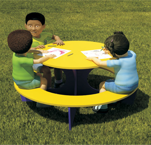 Kids Fun Size Plastic Picnic Table Playground Equipment Belson - Playground picnic table