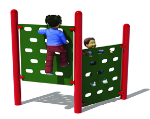Junior Double Panel Climbing Wall for Playgrounds