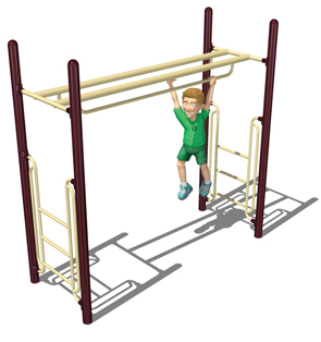 Double Parallel Bar Horizontal Ladder for Playground