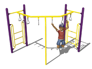 Model PGC-LTRH-90 | 90° Trapeze Ring Horizontal Ladder