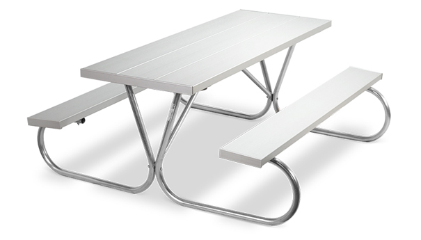 Model PK-6AA | Park Chief  8ft. Aluminum Picnic Tables (Anodized Aluminum)