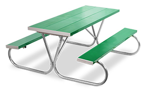 Model PK-6AG | Park King  8ft. Aluminum Picnic Tables (Kelly Green)