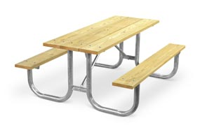 Model PMG-6WA | Park Master 6ft. MCA Treated Picnic Table with Hot-Dipped Galvanized Frame