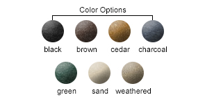 Recycled Plastic Color Options