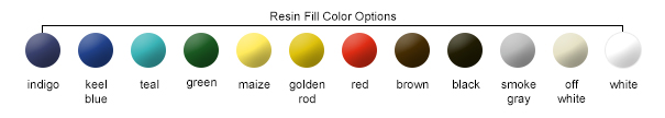 Resin Fill Color Options