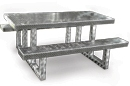 Diamond Plate Aluminum Picnic Table