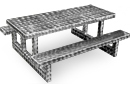 Rectangular Aluminum Picnic Table