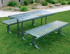 model psspt 6 picnic table with detached seats serenity series white - Metal Picnic Tables