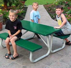 Model AT4K-P | 4ft Aluminum Kids Picnic Table