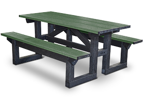Model PTST6 | Step Through Picnic Tables (Green)