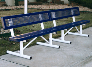 Model R10WB-P | 10' Thermoplastic Coated Bench (Mystic/White)