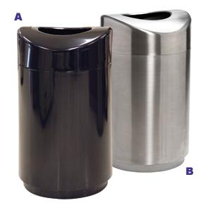 model r2030eplbk u0026 r2030ssspl indoor trash receptacle