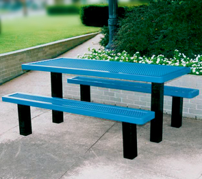 Model R6-IP | Rectangular Picnic Table | Traditional Style