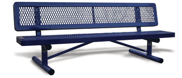 Model R6KWB-P | Thermoplastic Coated Playground Bench (Mariner/Black)
