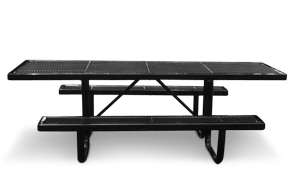 R8HA-P | Thermoplastic 8' Universal Access Traditional Table (Black)
