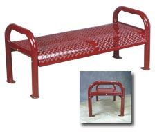 Model RB4CBS | Distinctive Perforated Steel Bench