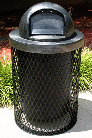 Leisure Series Round 32 Gallon Trash Receptacles Belson