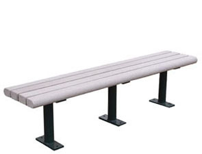 Model RP6NB-S | Recycled Plastic Seat (Gray/Black)
