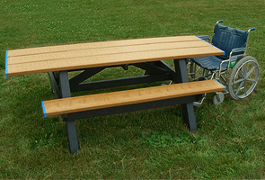 Model RPS8HA | 8ft Recycled Plastic Picnic Table Universal Access