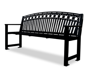 Model RSAA6 | Arcadia Pattern Steel Bench
