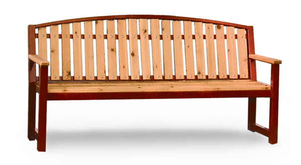 Model RSCA6 | Wood Park Benches | Regency Style (Cedar/Burgundy)